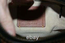 Coach 20315 Rouge 1941 Special Edition Western Handbag Black Embroidered Flower