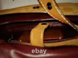 Coach 56621 Suede Leather Western Rivet Saddle 23 Sac Crossbody Ginger $595 Nouveau