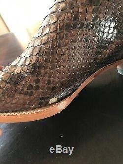 Cody James Hommes Sz 13 D Naturel Giant Python Exotique Western Boot Bout Carré Bb42