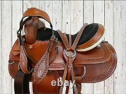 Comfy Trail Western Horse Saddle 15 16 17 18 Ensemble De Tack En Cuir À Outils De Plaisir