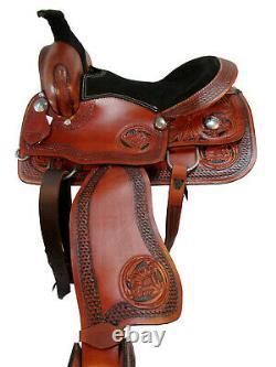 Comfy Trail Western Pleasure Horse Saddle 15 16 Set En Cuir À Outils Floral