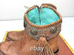 Corral A3196 Cowboy Bottines Bootie Western Cognac/turquoise Taille 9