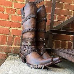 Corral Femmes Edgy Brown Bottes En Cuir Avec Bretelles C2970 Dernières Paires Vente