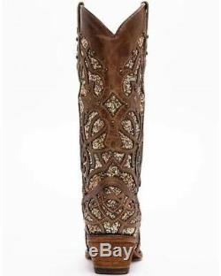 Corral Femmes Western Boots Cowboy Brown Orix Glitter C3331 Boot Sz 8 Nib