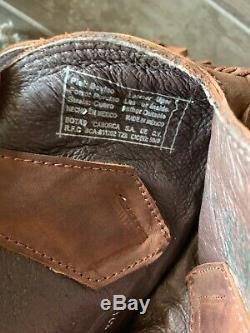 Cowboy Liberté Noir Fringe Bottes De Cow-girl Faggio Brown Taille 7.5 Euc D'occasion
