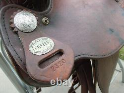 Crates 15.5 Western Show Saddle Silver Trim