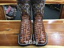 Cuir Crocodile Tail Gator Bout Carré Bottes Botas Cuadradas Rodeo De Piel Cola