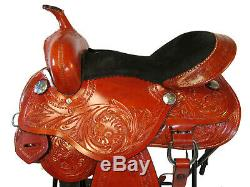 Custom Made Selle Western 15 16 Floral Tooled Pleasure Trail Horse Racing Tack