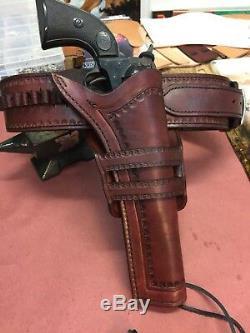 Custom Western Des Armes À Feu De Ceinture Et Main Etui Outillée Cowboy Action