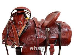 Deep Seat Western Saddle Ranch Roping Horse Trail Wade Tooled 15 16 17 Package