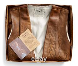 Double Ralph Lauren Rrl Mens Limited Edition De 50 Cuir Western Bolton Vest