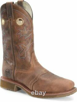 Double-h Men's Work Boots Brown Wide Square Composite Toe Dh6134