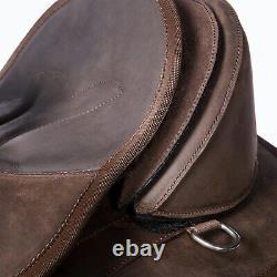 Edix Tiamo Western Treeless Saddle Brown + 2 Pommeaux, Girth & Fenders Rrp £750