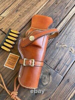 Étui Occidental Doublé De Daim En Cuir Brun D'alfonso Pour Cadre 4 N. 44 Revolver