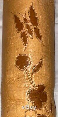 Femmes Vintage 9 Extra Étroit Larry Mahan Papillon Inlay Cowboy Grand Top Bottes