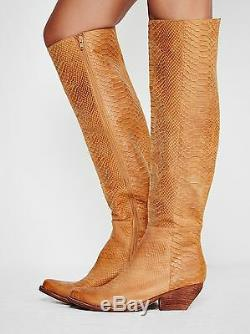 Free People X Jeffrey Campbell Tan Limitless Bottes Western Grand Taille 6 328 $ Nwob
