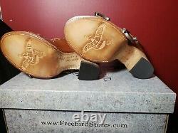 Freebird By Steven Violet Leather Sandales/boîtes Taille 7 Cognac