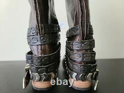 Freebird Par Steven Dante Fashion Vintage Distressed Leather High Boot Brown Sz 8