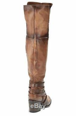Freebird Par Steven Rodeo Grand Cuissardes Bottes Western Cognac Brown Boho 6