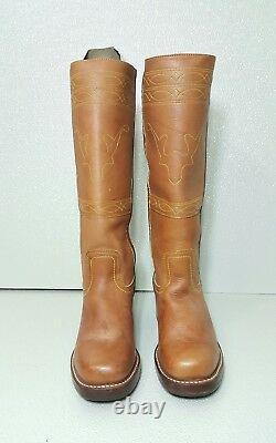 Frye Campus Couture Cheval-débarrassant Femmes Brown Leather Boot Sz 8 M