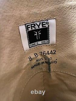 Frye Melissa Trapunto Riding Boots Taille 8 Cognac Brown Distressed Tall Leather