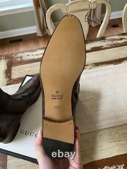 Gucci Fondente Bottes En Cuir Brun 12,5 Royaume-uni 13 États-unis