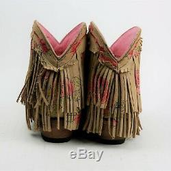 Gypsy Indésirable Par Cowgirl Western Bottillons Lane Bottes Spitfire Fringe Femmes Taille 10
