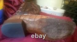Haan Caiman Tail Western Bottes Cl1019 Pour Hommes De Lucchese. W8s, Tan/chocolat, Sz. 10d