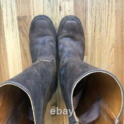 Hommes Frye Campus 14l Brown Leather Made In The USA Tall Western Boots Sz 12 M