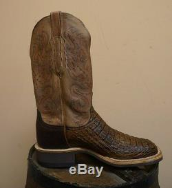 Hommes Lucchese Bottes Western! Place Toe Caiman! Exotiques! Cx1066. W8s