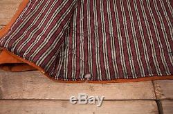 Hommes Vintage Sears Années 1940 Tan Suede Veste En Cuir Talon Moyen Zip 38 R6892