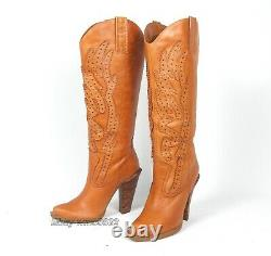 Jessica Simpson Abilene Alan Cowboy Cowgirl Bottes Femmes 8,5b Excellent Cond