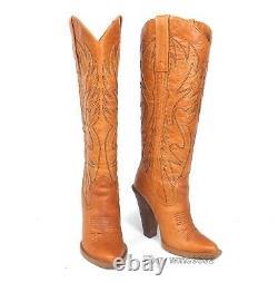 Jessica Simpson Alan Cow-boy Bottes Femmes 7b Excellente De Cond. Occidental