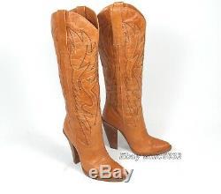 Jessica Simpson Alan Cow-boy Bottes Femmes 9b Excellente De Cond. Occidental