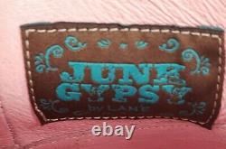 Junk Gypsy Par Lane Boots Spitfire Floral Fringe Women's Western Booties Taille 9