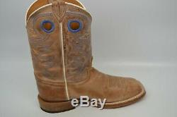 Justin 10,5 Ee Bout Carré Bent Rail Chievo Cuir Western Santiags Br744