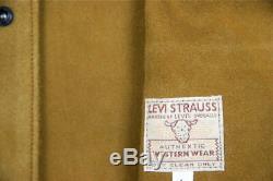 LVC Levi En Cuir Gilet Gilet Shorthorn Levi Western Suede En Cuir Levis