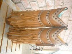 Les Femmes De Nib 8,5 M Corral Tan Frangées Couches & Goujons Bottes Cowboy Fashion C2988