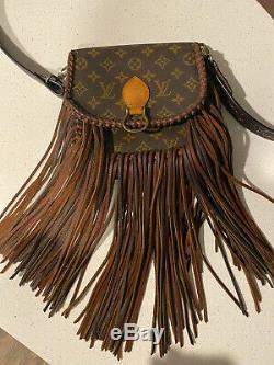 Louis Vuitton Fringe Vintage Boho Sac Bandoulière