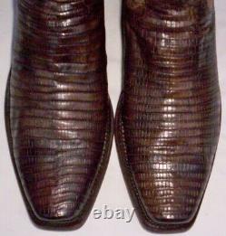 Lucchese Antique Tan Armadillo (teju) Peau De Lézard, Style #m2904, Taille (10 D)