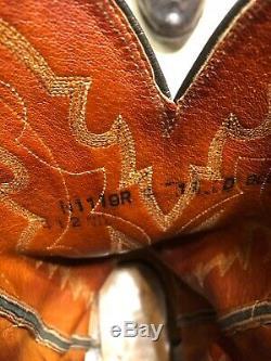 Lucchese Bottes De Cow-boy D'autruche Jambe Hommes N1119. R4 Taille 11 D 500 $ Nouveau