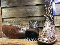 Lucchese Bottes Hommes Taille 10,5 D Hornback Brown, A Fait En Amérique