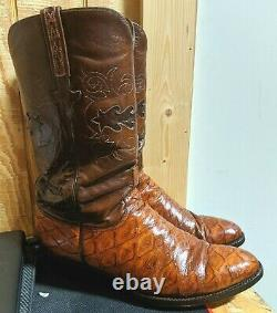 Lucchese Chili Brown Vintage Boots 10.5 D Homme
