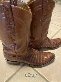 Lucchese Classics Alligator Rare Cut Belly Bottes 12d