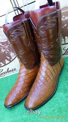Lucchese Classics Bias Cut Alligator Crocodile Rare Exotic Western Boot 10,5 D