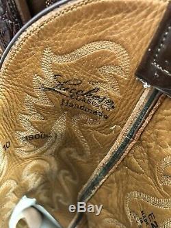 Lucchese Classics Brown Alligator Ventre Mens Cowboy Boots Sz 10 Handmade
