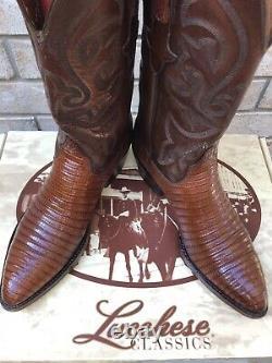 Lucchese Classics Cognac Teju Lizard Cowboy Western Boots 10 D 1499,99 $