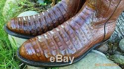 Lucchese Classics Ventre Alligator Crocodile Cut Bottes Rares Occidentaux Exotiques 9 E