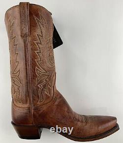 Lucchese Handmade Limited Burnish Tan Mad Dog Goat Cowboy Bottes Femmes 9.5 B Nouveau