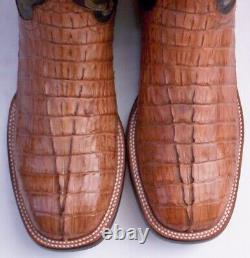 Lucchese Landon, Tan Hbc Croc Tail Skin Boots, Style# 2685, Taille (11. 5 D)